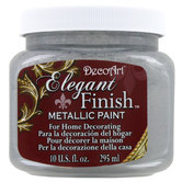 Shimmering Silver DecoArt Elegant Finish Metallic Paint
